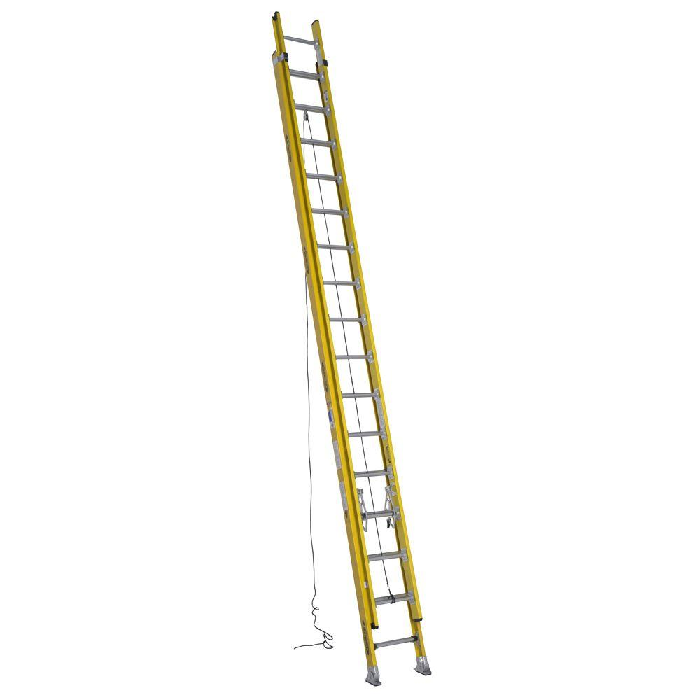 32 ft. Fiberglass D-Rung Extension Ladder with 375 lb. Load Capacity