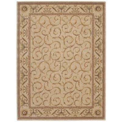 Somerset Ivory 3 ft. 6 in. x 5 ft. 6 in. Area Rug