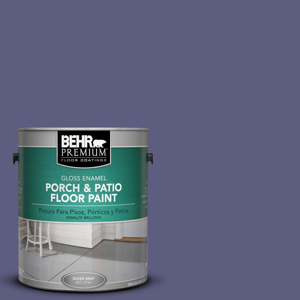 Behr Premium 1 Gal M550 7 Strong Iris Gloss Porch And
