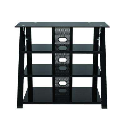 Black Glossy Entertainment Center