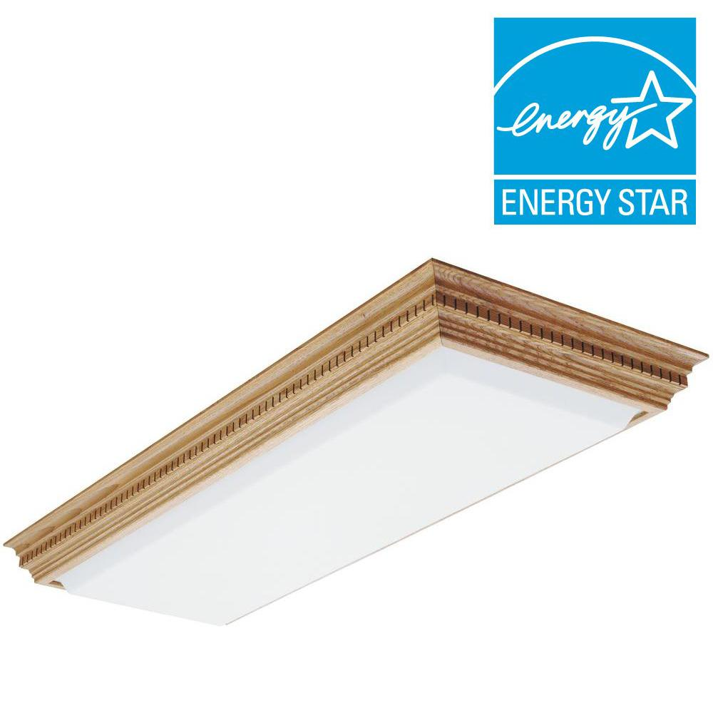 Lithonia Lighting Dentil 1-1/2 ft. x 4 ft. 4-Light Fluorescent Ceiling Fixture