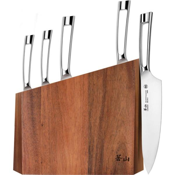 Cangshan N1 Series 6-Piece German Steel Forged Knife Block Set 59205