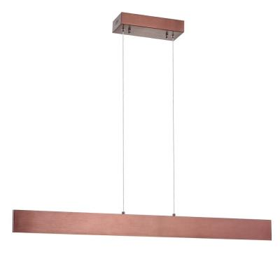 Draper 40 in. Dimmable Adjustable Integrated LED Anodized Bronze Metal Linear Pendant