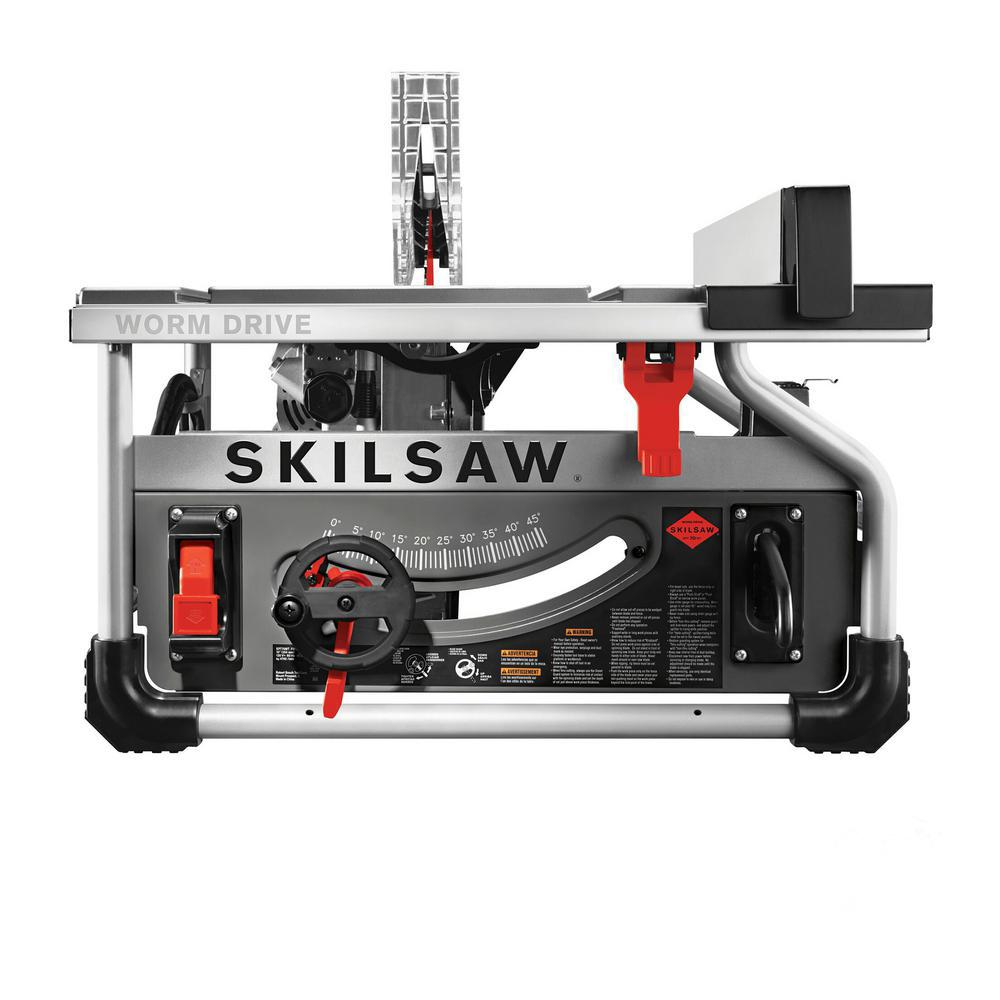 SKILSAW 15 Amp Corded Electric 10 in  Portable Worm Drive Table Saw Kit  with 30-Tooth Diablo Carbide Blade