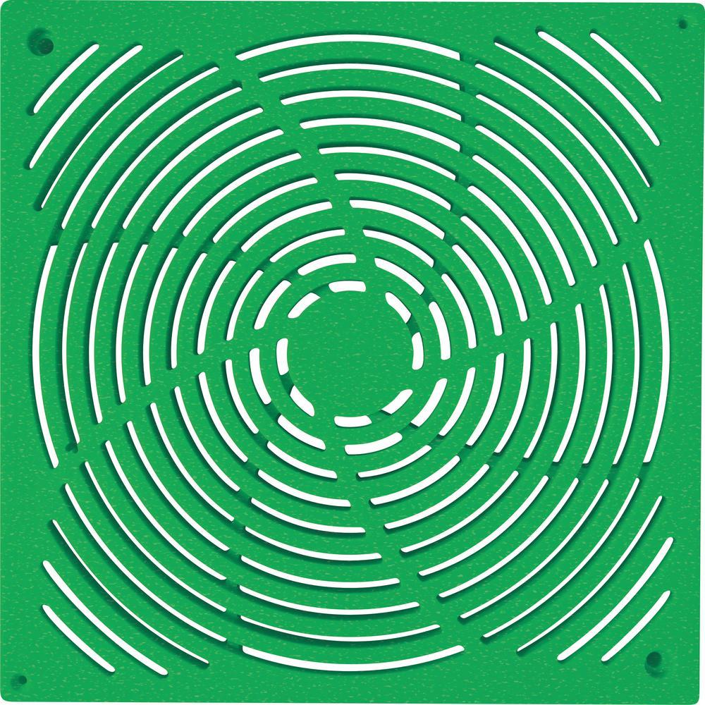 9 in. x 9 in. Green Grate