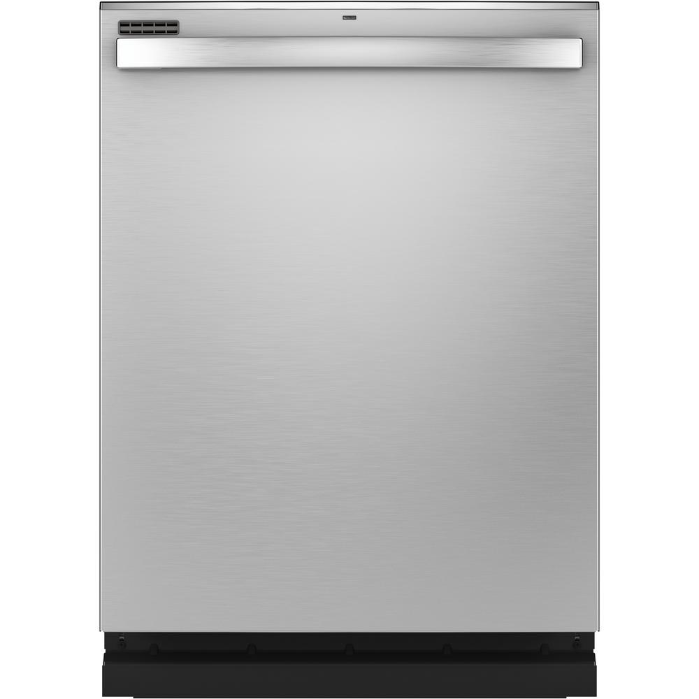 GE GE Top Control Tall Tub Dishwasher in Stainless Steel with Stainless Steel Tub and Steam Prewash, 50 dBA, Silver