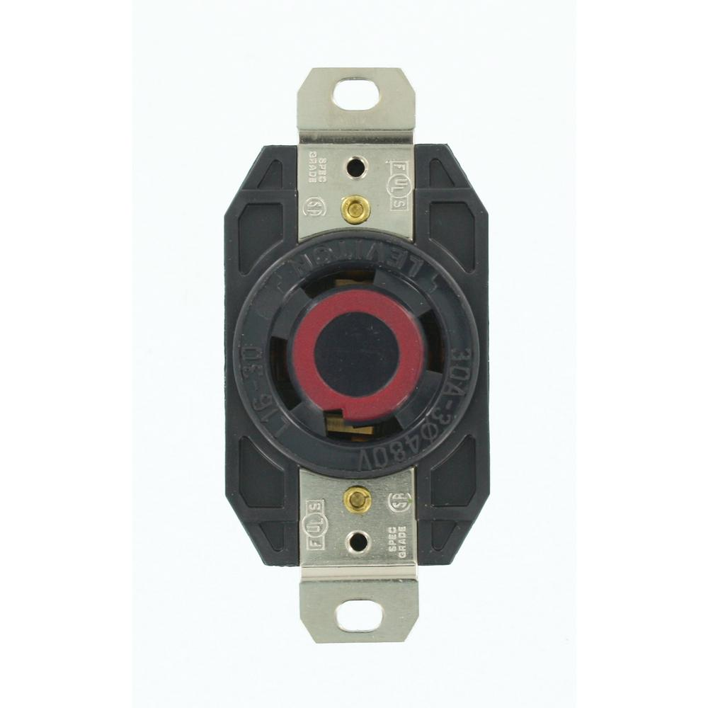 black leviton plugs connectors 2730 64_1000 leviton 30 amp 480 volt 3 phase flush mounting grounding locking l16-30r wiring diagram at panicattacktreatment.co