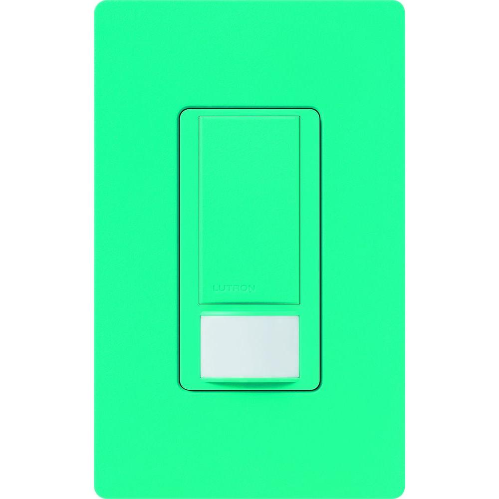 Lutron Maestro Motion Sensor Switch 5 Amp Single Pole Or Multi 3 Way Home Depot Vacancy 2 Turquoise