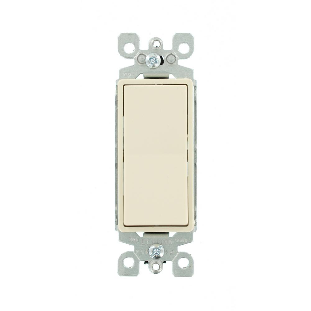 Reviews For Leviton Decora 15 Amp Illuminated Rocker Switch Light Almond R76 05611 2ts The Home Depot