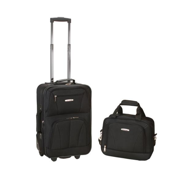 a3a21caa932d Rockland Rockland Rio Expandable 2-Piece Carry On Softside Luggage ...