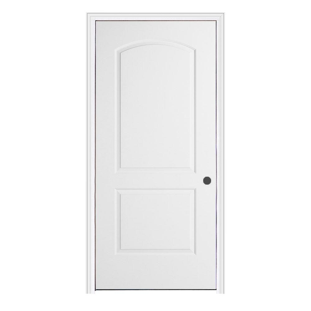 Jeld Wen 24 In X 80 In Continental Primed Left Hand Smooth Molded Composite Mdf Single Prehung