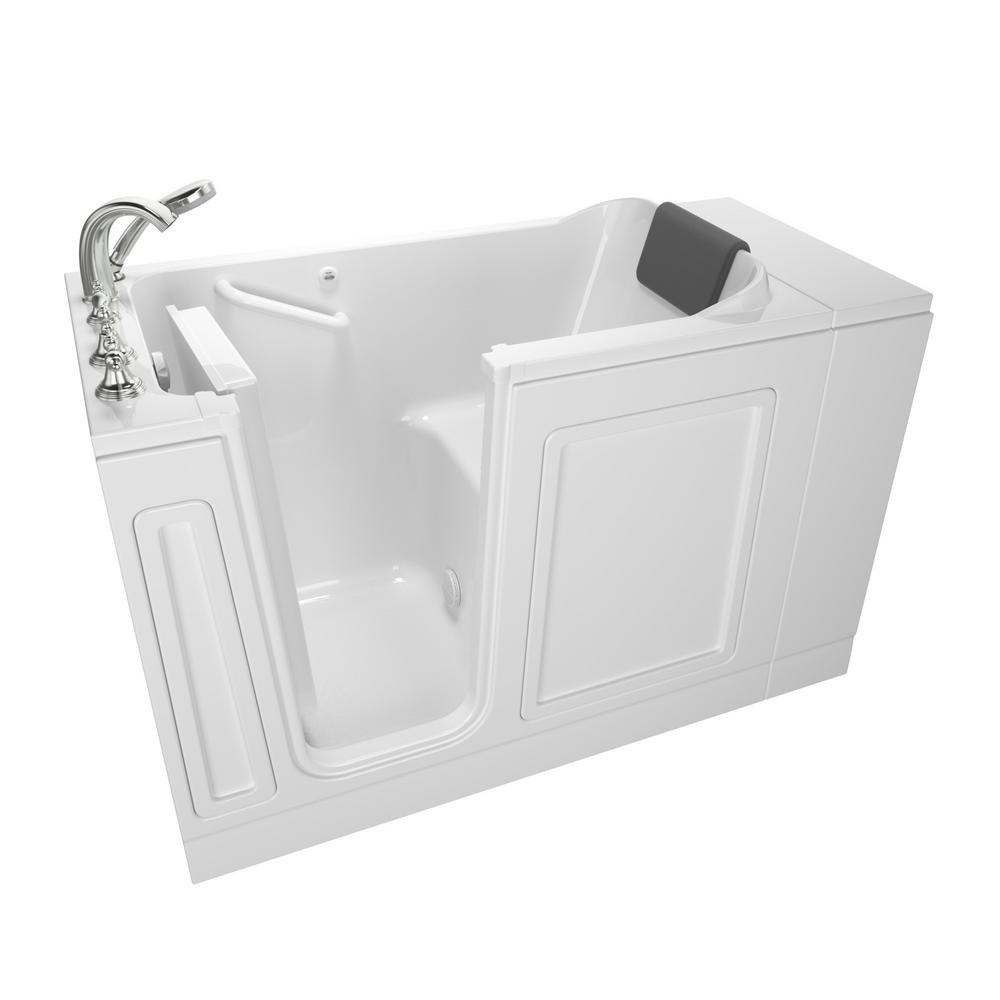 Acrylic Luxury Series 48 in. Left Hand Walk-In Soaking Tub in