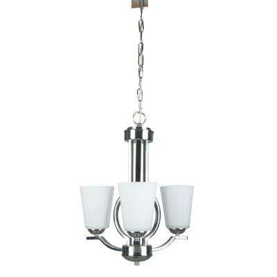 Varnum 3-Light Polished Chrome Chandelier