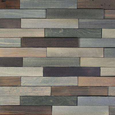 Deco Planks Old Forest Pewter 1/2 in. Thick x 2 in. Wide x 12 in. Length Solid Hardwood Wall Planks (10 sq. ft. / case)