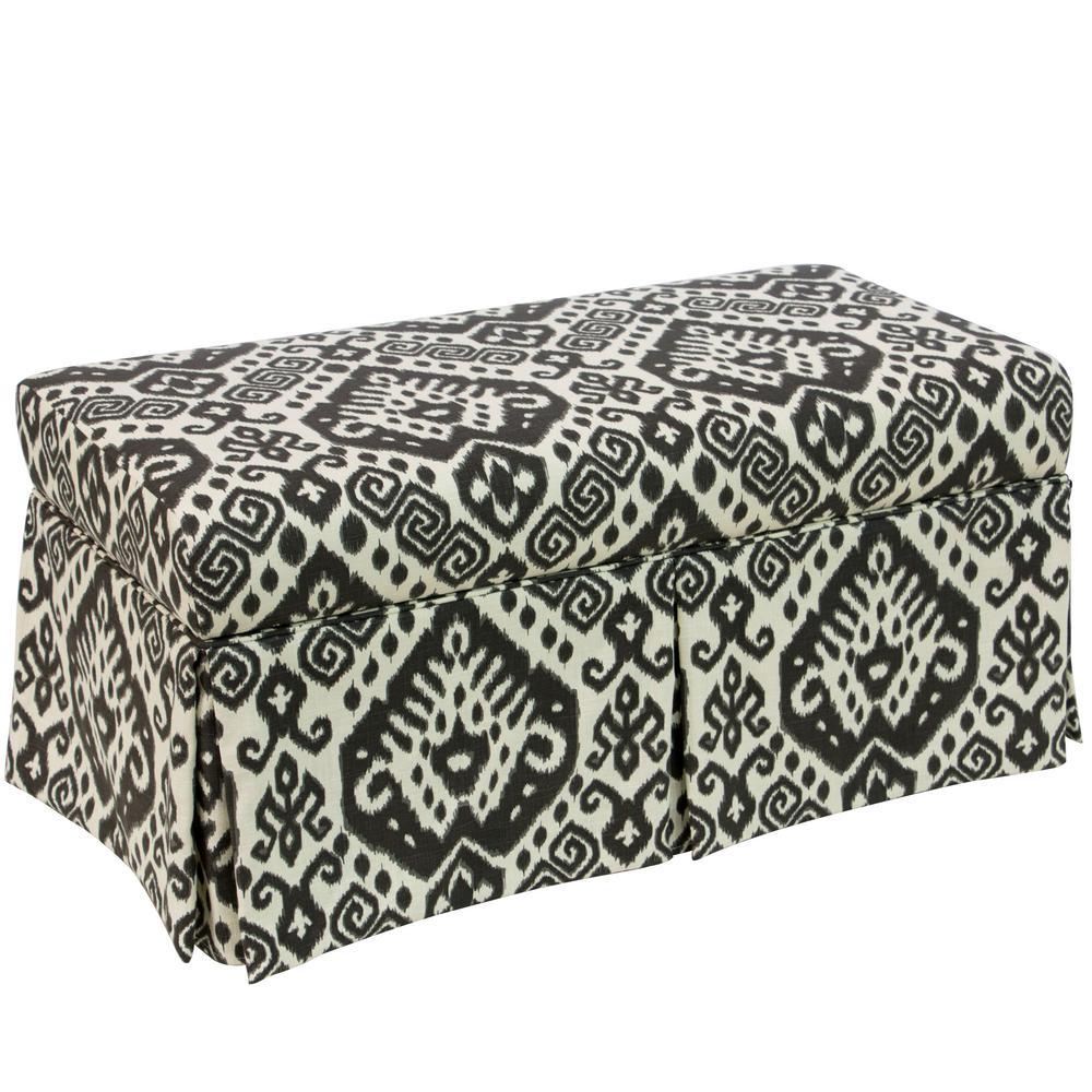Safi Slate Skirted Storage Bench