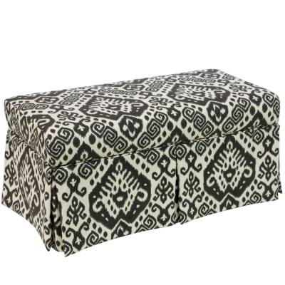 Hamilton Safi Slate Skirted Storage Bench