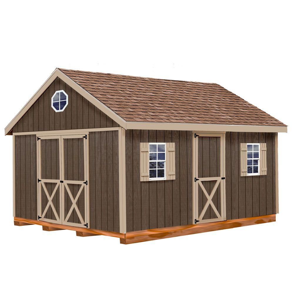 Best Barns Easton 12 ft. x 16 ft. Wood Storage Shed Kit with Floor Including 4 x 4 Runners