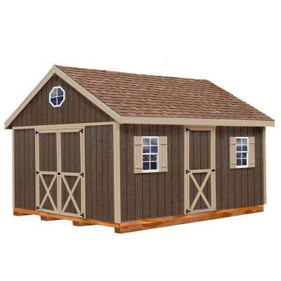 Easton 12 ft. x 16 ft. Wood Storage Shed Kit with Floor Including 4 x 4 Runners