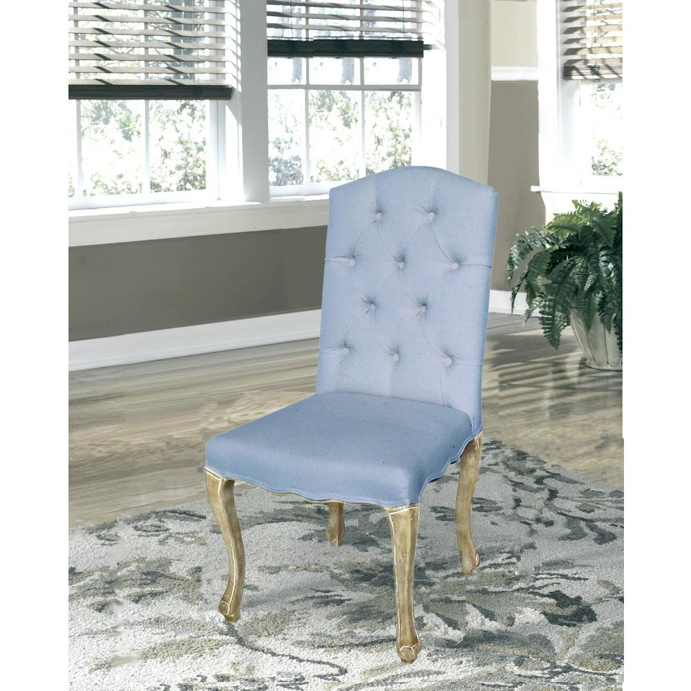 bd475efe21a0 Lux Home Kerri Serenity Linen Dining Chair (Set of 2)-DWC-382BL ...