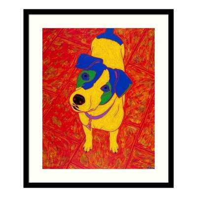 """Fiesty Jack Russell"" by Angela Bond Framed Wall Art"