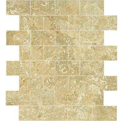 Fantesa Cameo 12 in. x 12 in. x 8 mm Glazed Porcelain Mosaic Floor and Wall Tile (1 sq. ft. / piece)