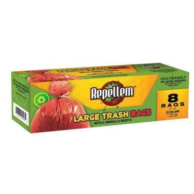 33 Gal. Large Trash Bags (8-Count) (2-Boxes)