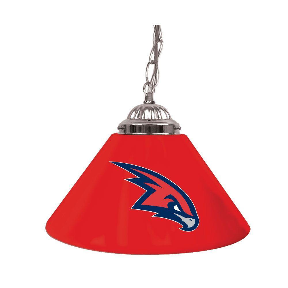 Atlanta Hawks NBA 14 in. Single Shade Stainless Steel Hanging Lamp
