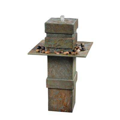 Pilaster Slate Floor Fountain