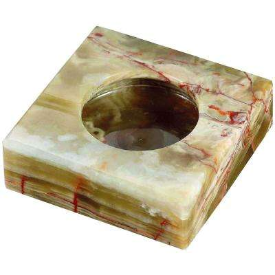 Sugilite Beige Onyx Stone Cigarette Ashtray with 2-Cigarette Rests