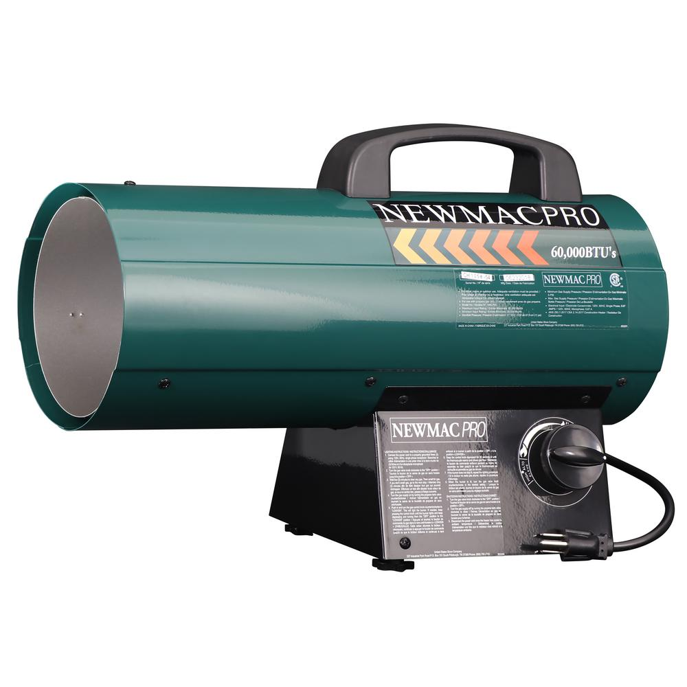 Forced Air Propane Heater >> Newmac 60 000 Btu Forced Air Torpedo Propane Gas Portable Heater
