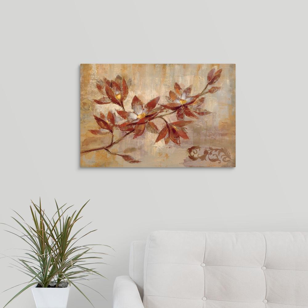 Greatbigcanvas copper branch by silvia vassileva canvas wall art 1051621 24 24x16 the home depot