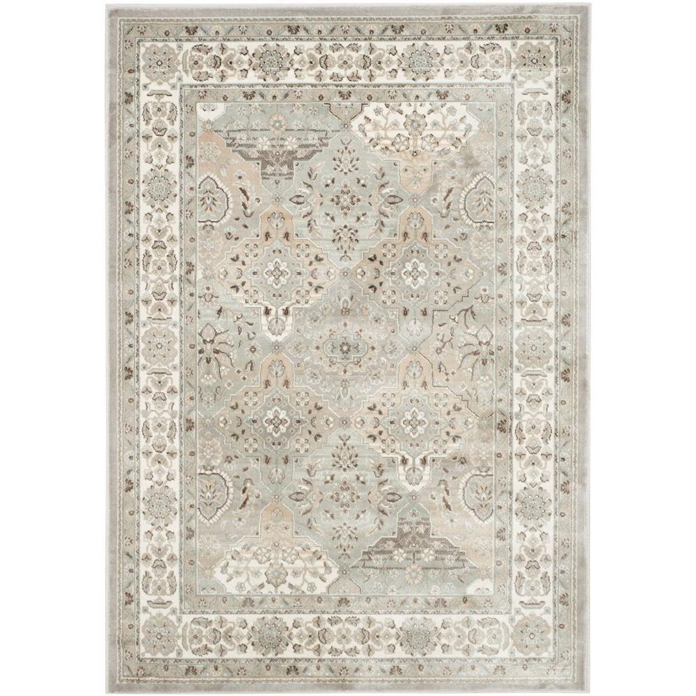 Safavieh Persian Garden Silver Ivory 4 Ft X 5 7 In