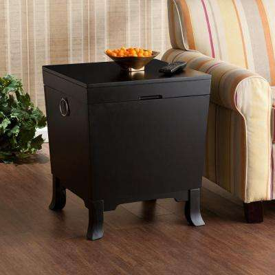 Mabel Black Trunk End Table