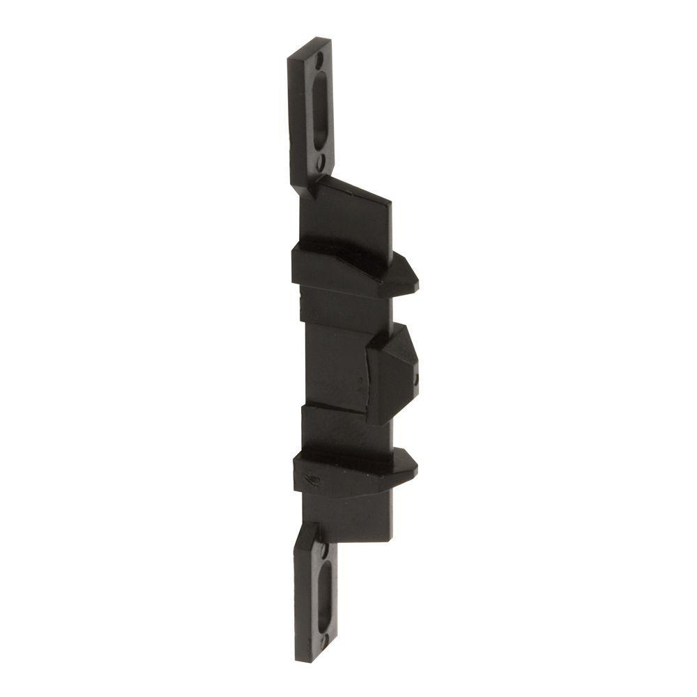 Prime-Line Sliding Screen Door Latch Strike, Adjustable, Black Plastic
