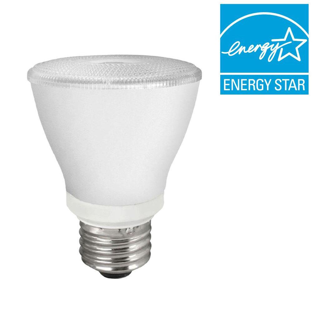 TCP 50W Equivalent Bright White (3000K) PAR20 LED Flood Light Bulb (8-Pack)