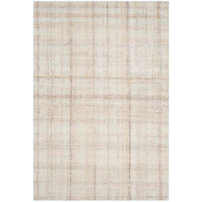 Abstract Ivory/Beige 3 ft. x 5 ft. Area Rug