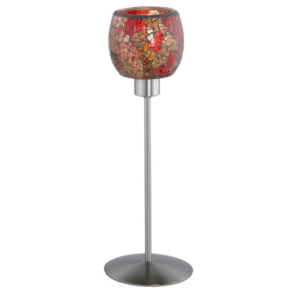 Eglo Sabana 15 in. 1-Light Matte Nickel Table Lamp