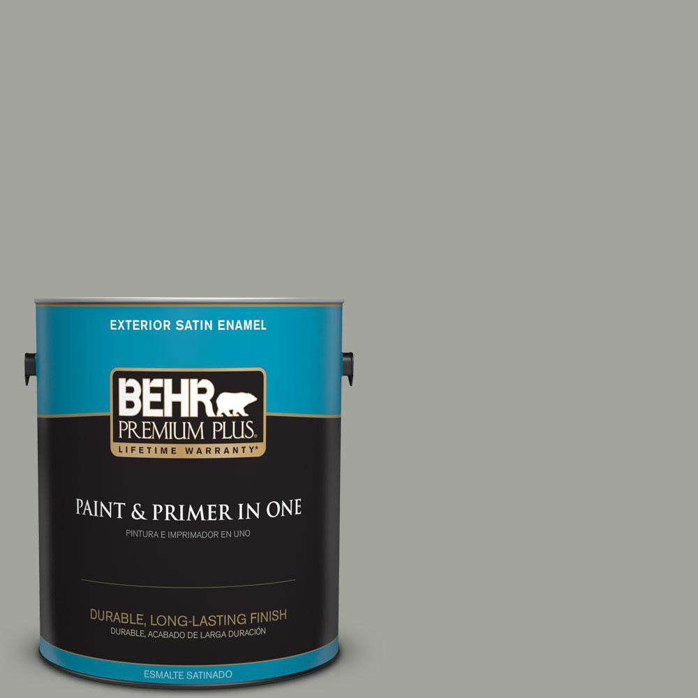 1-gal. #N380-4 Strong Winds Satin Enamel Exterior Paint
