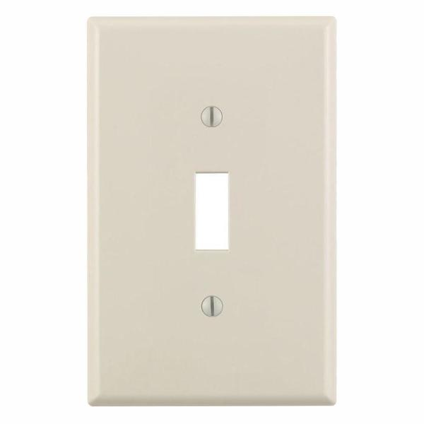 1-Gang Midway Toggle Nylon Wall Plate, Light Almond (10-Pack)