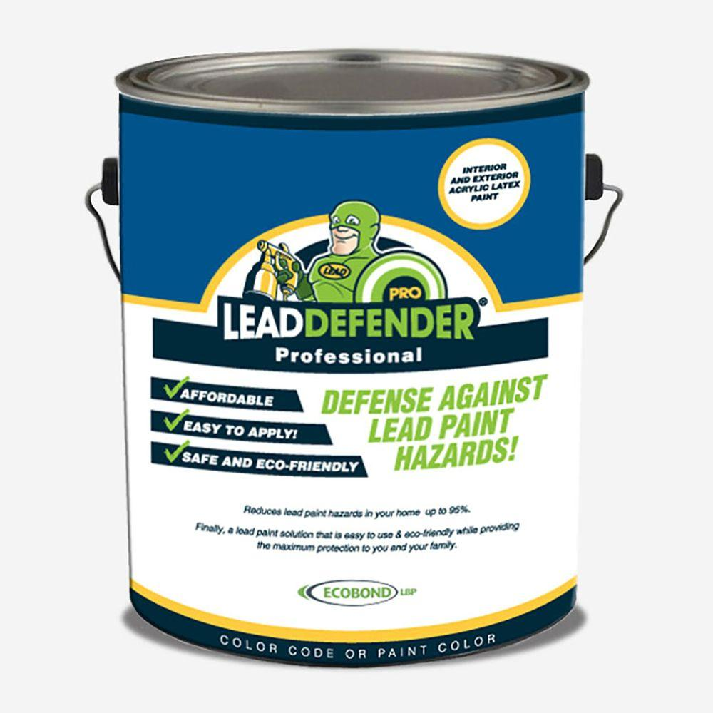 Ecobond Lbp 1 Gal Lead Defender Pro Off White Flat Interior Exterior Paint And Primer Lead