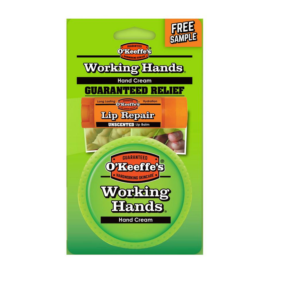 Working Hands 3.4 oz. Hand Cream with Bonus Lip Repair Tube