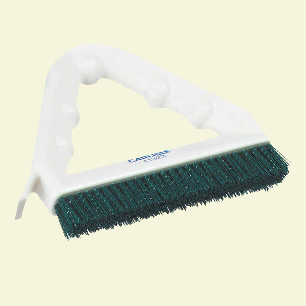 9 in. Polyester Green Tile and Grout Brush (Case of 12)