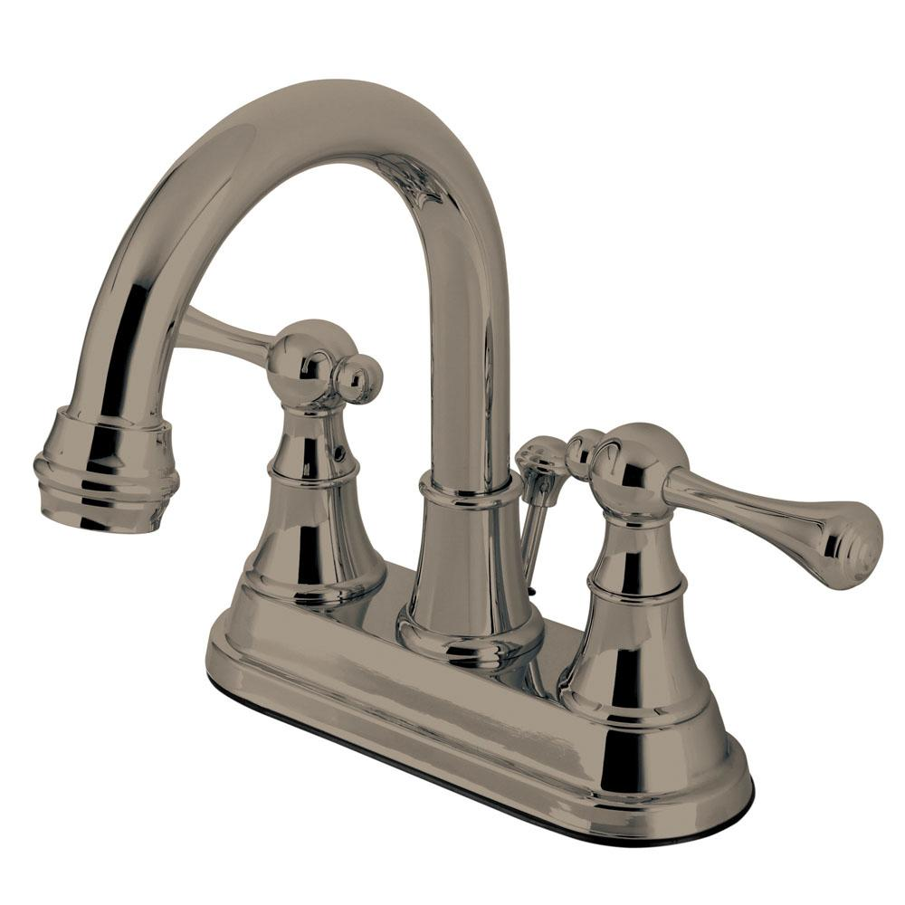 Sutton 4 in. Centerset 2-Handle High-Arc Bathroom Faucet in Satin Nickel