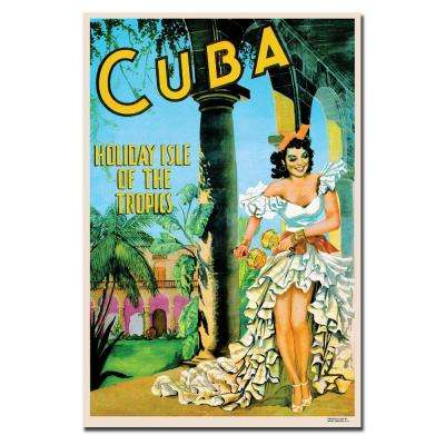 22 in. x 32 in. Cuba Holiday Isle Canvas Art