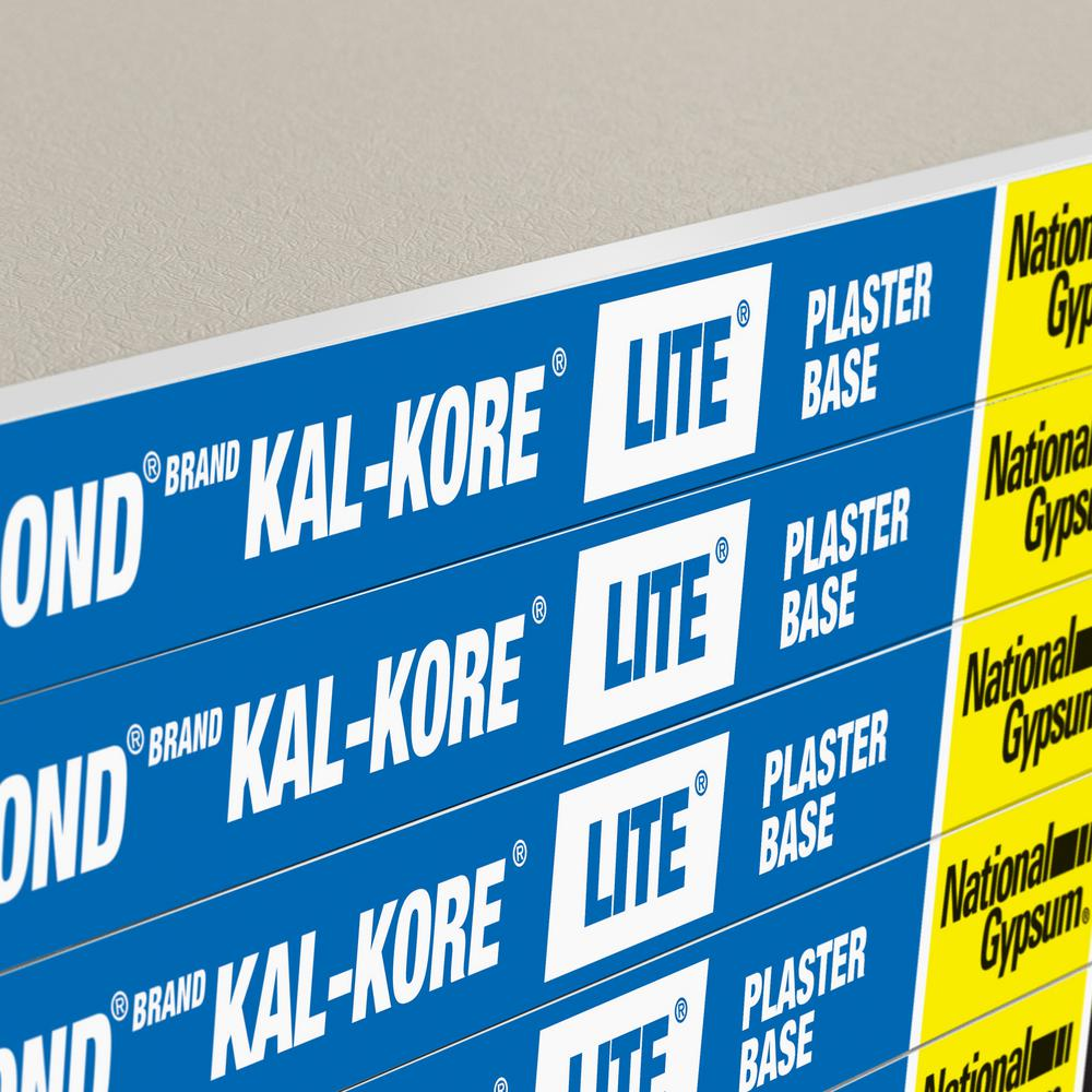 Gold Bond Kal Kore 1 2 In X 4 Ft X 8 Ft Lite Plaster Base Te Gypsum Board 50000840 The Home Depot