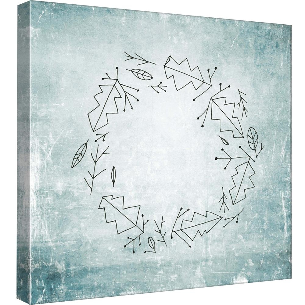 15 in. x 15 in. ''Wreath 2'' Printed Canvas Wall Art