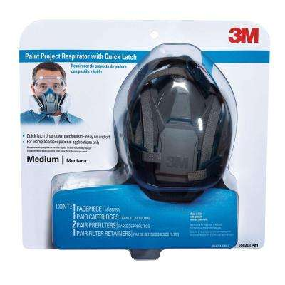 Medium Paint Project Respirator Mask with Quick Latch (Case of 4)