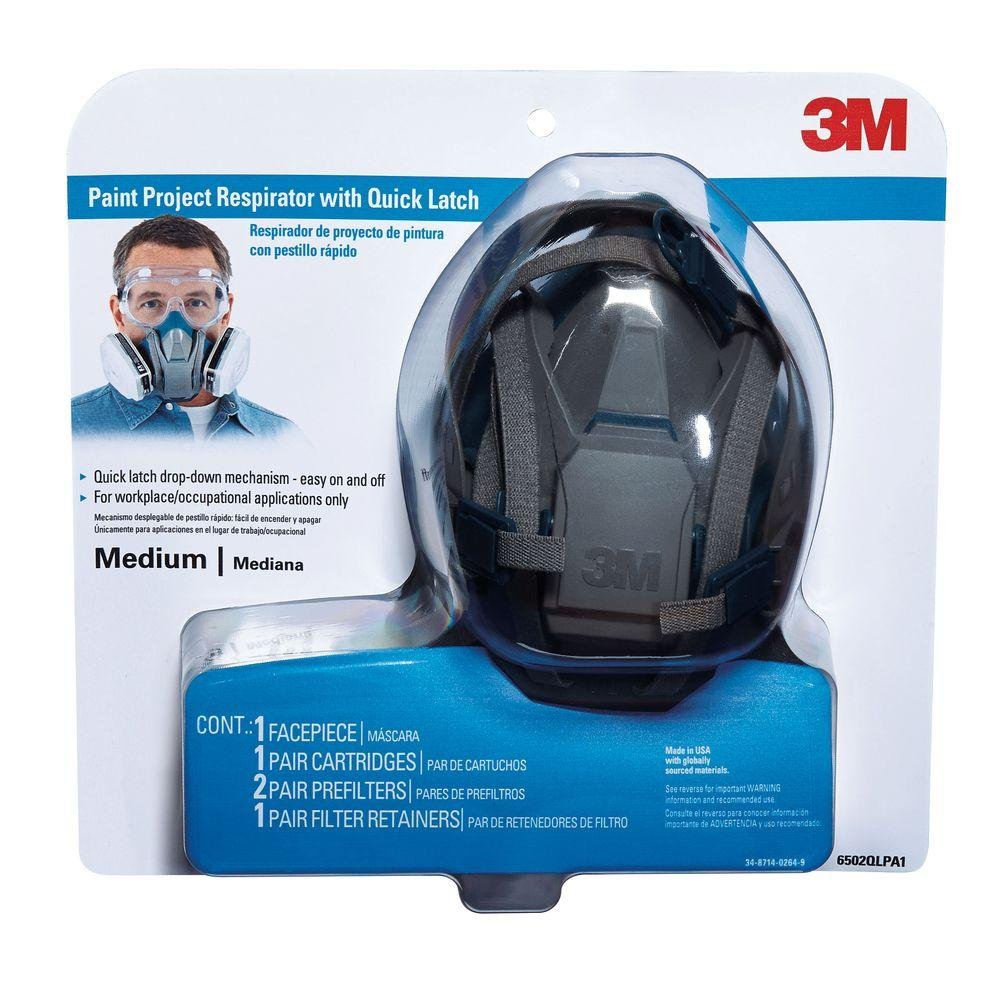 3m Project case With Paint Latch Respirator Of 4 Quick Mask Medium