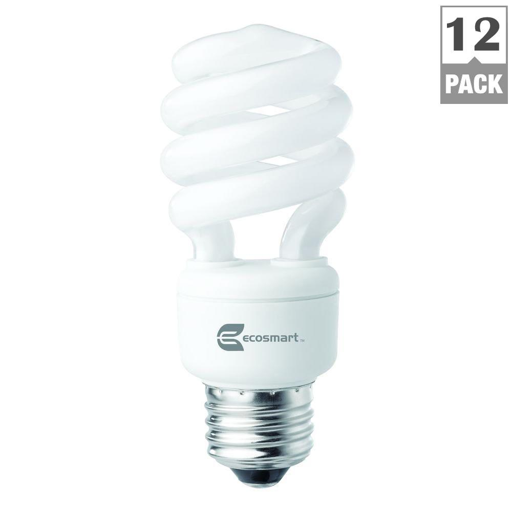 60 watt equivalent spiral cfl light bulb daylight 12 pack 60 watt equivalent spiral cfl light bulb daylight 12 pack esbm8141250k the home depot arubaitofo Image collections