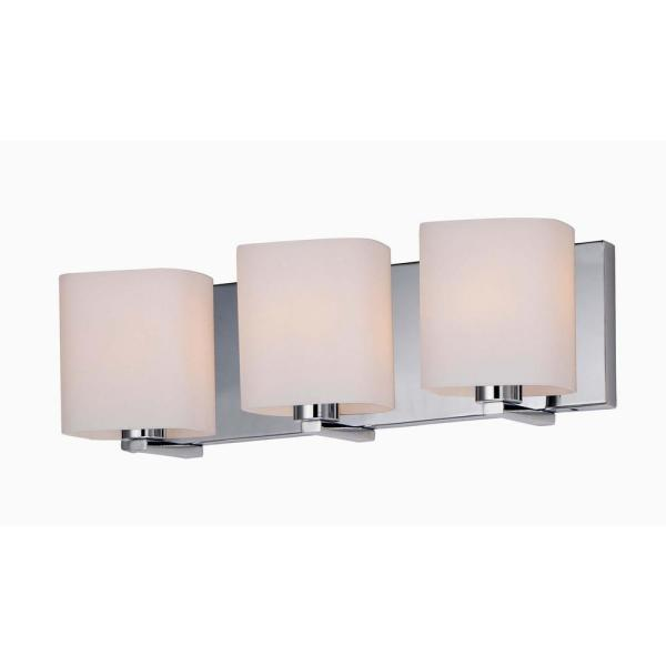 Wrap 19.25 in. Wide 3-Light Polished Chrome Vanity Light